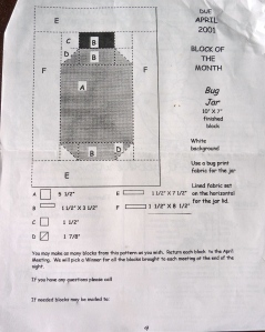 This is how I know the blocks were from 2001. Note the top right corner.