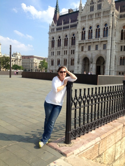 Ali (me) in front of Parliament in Budapest