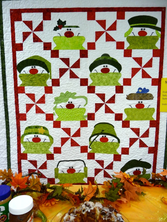 example snowman quilt