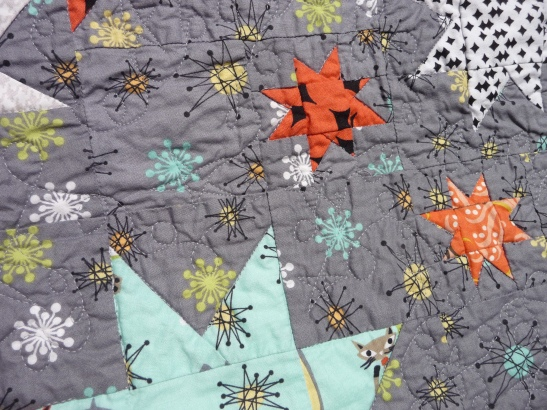 close-up of cat nap quilting